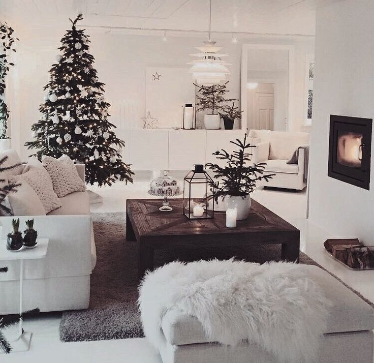 Christmas Christmas Living Rooms Farm House Living Room Home Decor