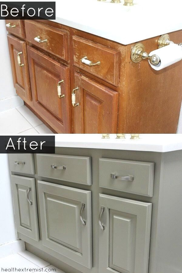 I M So Happy With How My Diy Project To Refinish A Bathroom Vanity