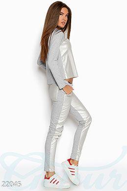 Gepur | Комфортный спортивный костюм арт. 19409 Цена от производителя, достоверные описание, отзывы, фото , цвет: , цвет: голубой меланж