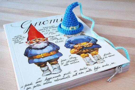 SEGNALIBRO Cappello gnomo / folletto / elfo / mago / strega HALLOWEEN per amanti dei libri / bimbi / bomboniera / Natale / Compleanno by SoftCute #italiasmartteam #etsy
