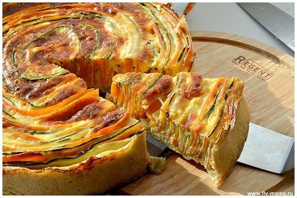 Пирог с цуккини и морковью