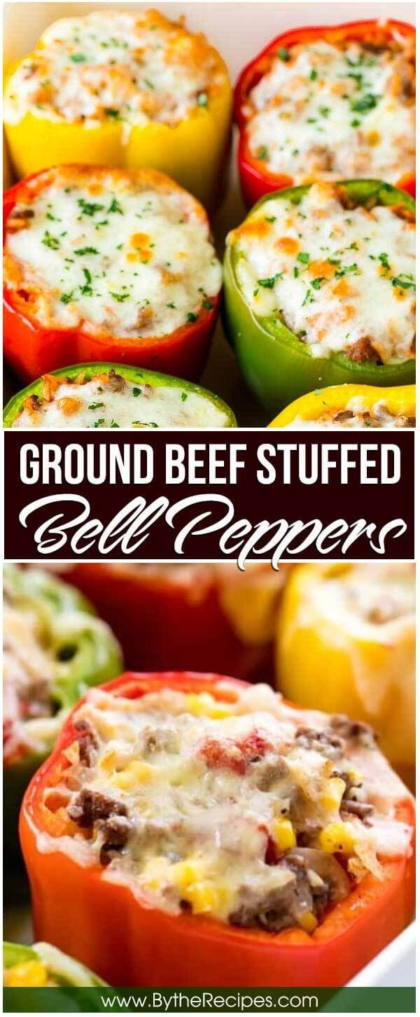Ground Beef Stuffed Bell Peppers Recipe In 2020 Stuffed Peppers Beef Dinner Ground Beef