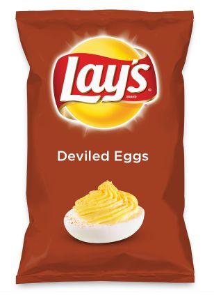 Wouldn't Deviled Eggs be yummy as a chip? Lay's Do Us A Flavor is back, and the search is on for the yummiest flavor idea. Create a flavor, choose a chip and you could win $1 million! https://www.dousaflavor.com See Rules.