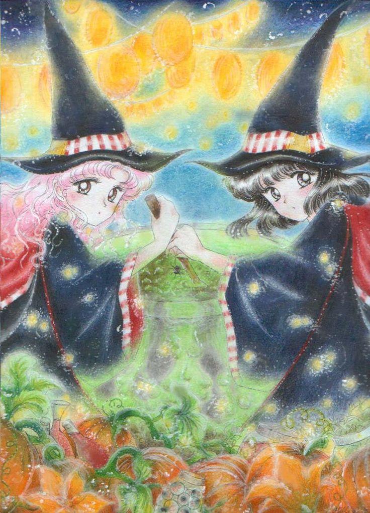Halloween witches Chibiusa and Hotaru by Mi-Lee on Deviantart