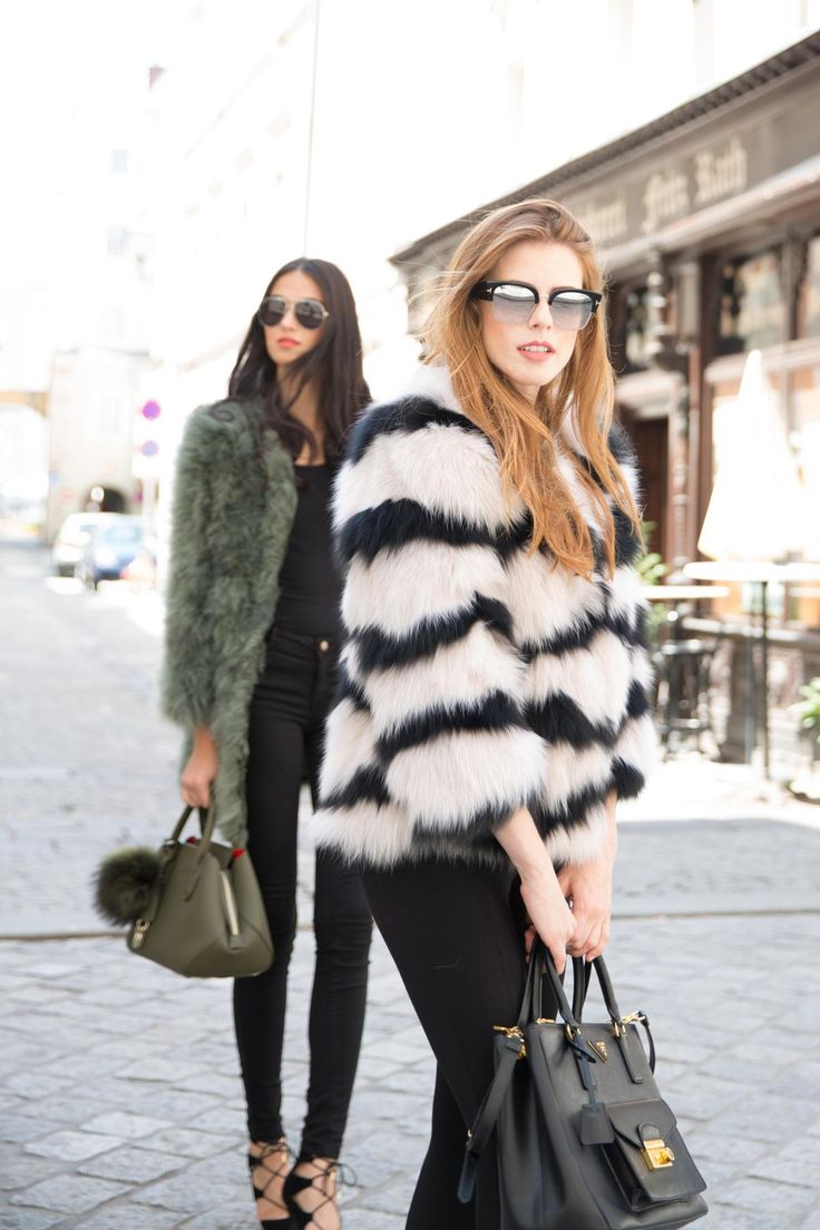 Dare to rock the AW season with the EYES ON MISHA fur & feather jackets