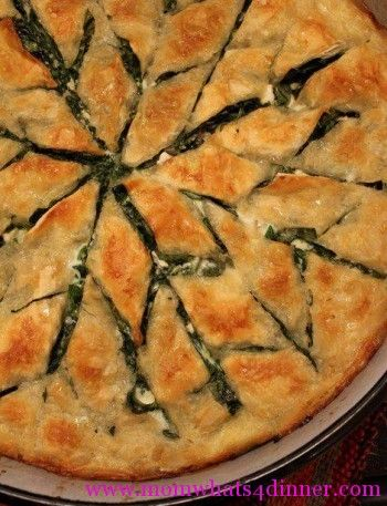 Spinach Burek on http://momwhats4dinner.com/spinach-burek/