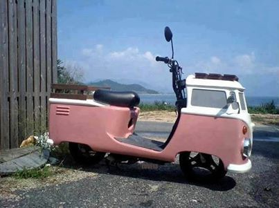Amazing VW camper moped!