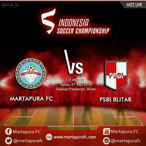 NextMatch # TSCB2016 Grup 5 PSBI Blitar vs # MartapuraFC Sabtu 7 Mei 2016 | Pkl. 15.00 WIB | Std. Gelora Penataran, Nglegok, Blitar Jawa Timur | Not Live |