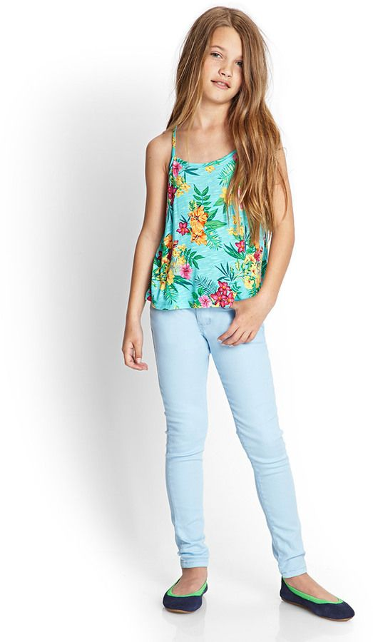 Forever 21 girls Tropical Print Cami (Kids) on shopstyle.com I love this whole outfit