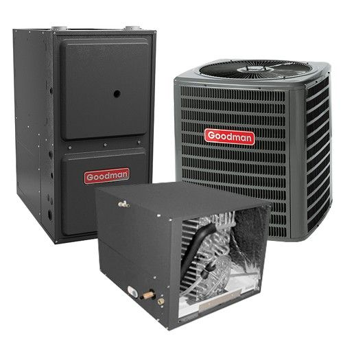 Goodman 1.5 Ton 13 SEER 92% AFUE Gas Furnace and Air Conditioner System - Horizontal