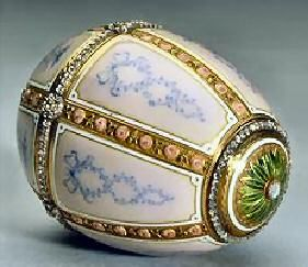 """The 'Twelve Panel' Faberge egg made in 1899 for Alexander Kelch (not an """"Imperial"""" egg.)"""