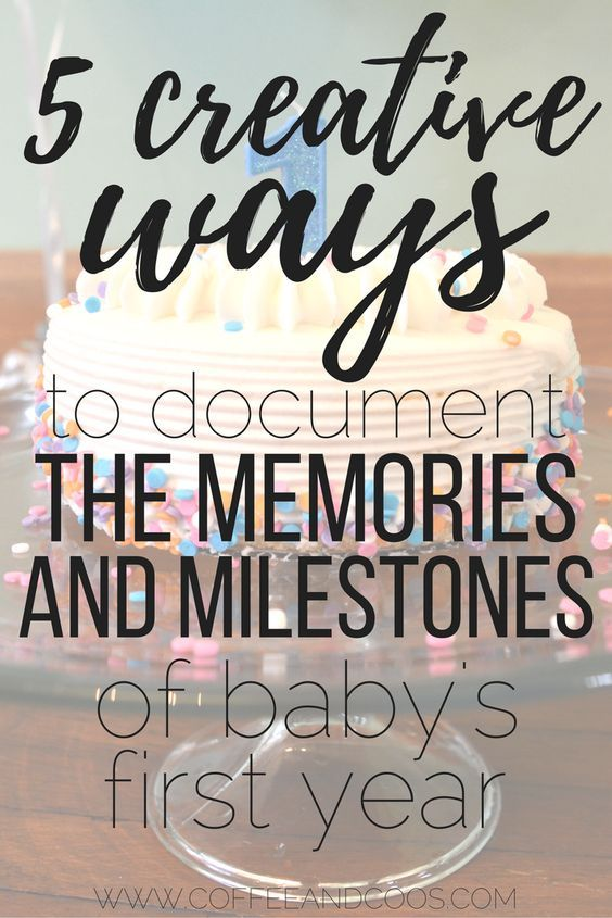 These are cute and easy ways to capture all the memories of baby's first year. Simple ways to save memories to look back on for years to come. Baby | Motherhood | Family Traditions | Baby Memories | Pictures |