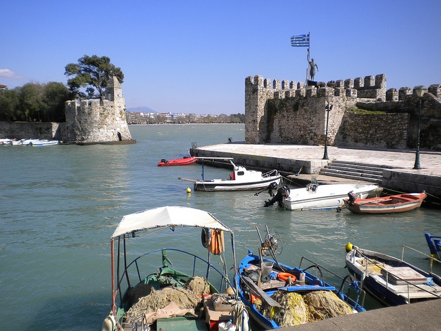 Old harbour at Nafpaktos, Greece. Find out more at http://www.blogtravels.gr