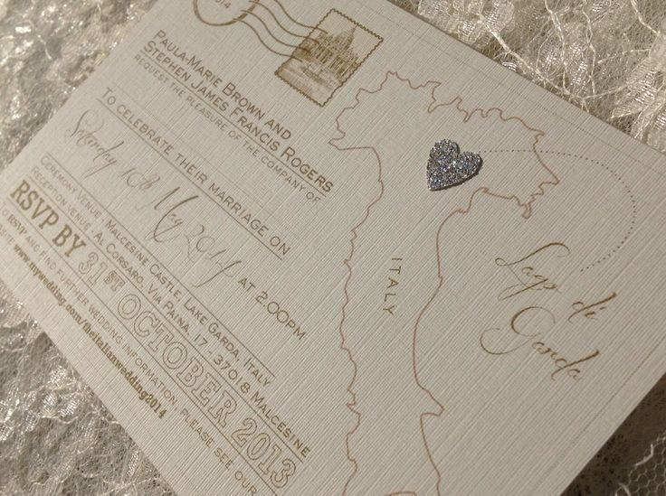 Any destination!  Postcard wedding invitations or save the dates with glitter heart. £1.20 each (includes envelope) sjweddingstationery@icloud.com