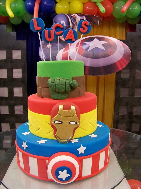 vingadores: Cakes Cartoon, Piñata, Photo