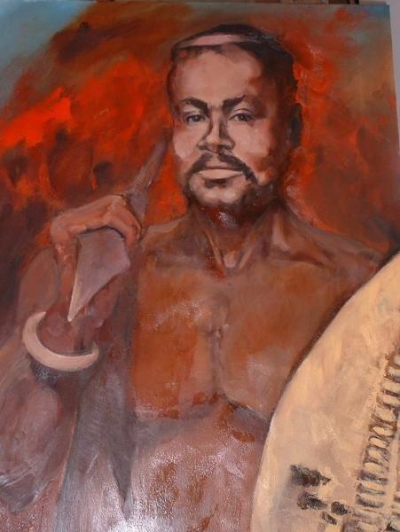 KZN Portrait  Cetshwayo kaMpande - king of the Zulu nation from 1872 to 1879  by Marlene Dickerson