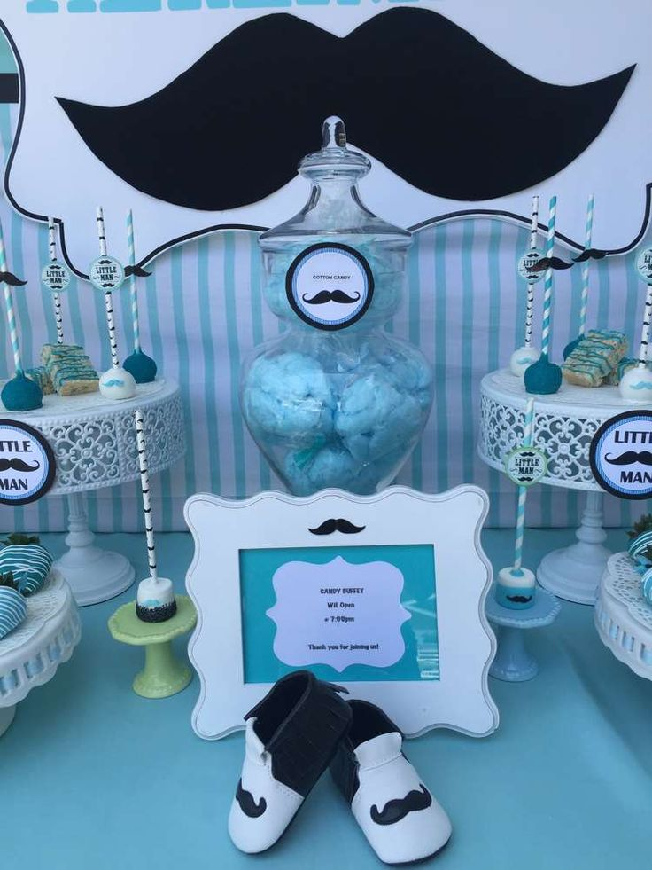 baby shower baby shower party ideas blue and white mustache baby