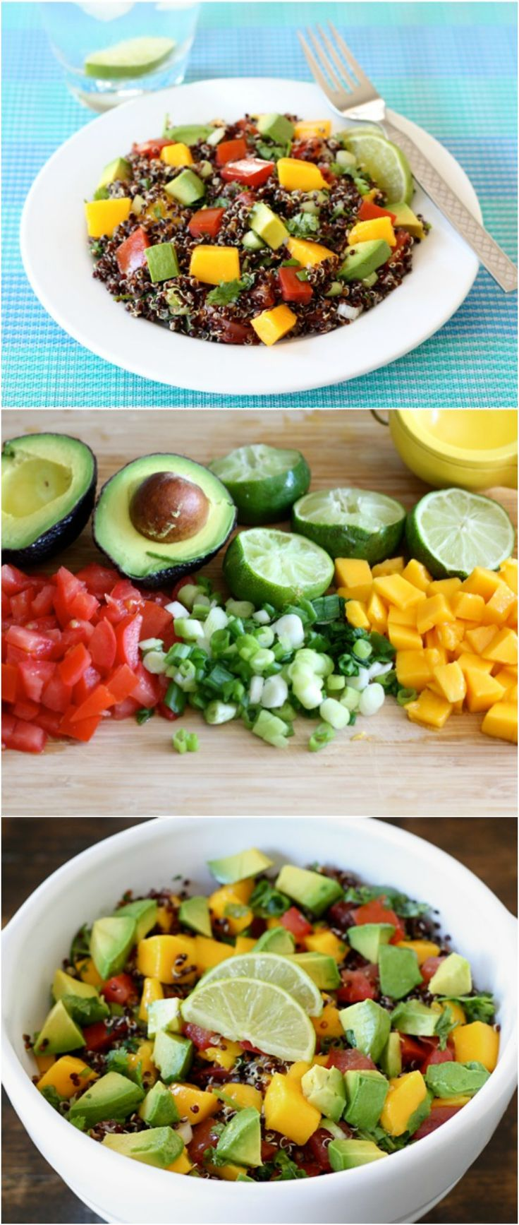 Black Quinoa Salad with Mango, Avocado, & Tomatoes ...
