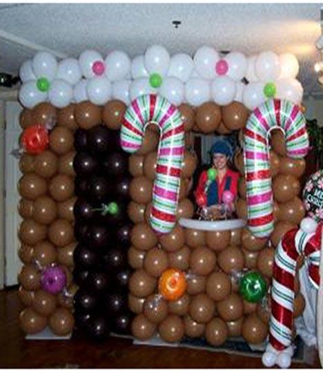 A Gingerbread house for a photo shoot. | Balloon ...