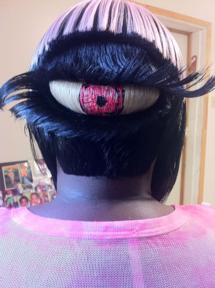 Eyeball haircut! WHAT, WHAT!!!
