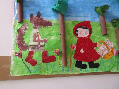 Le petit chaperon rouge : art visuel -> fresque - Capuchino v.