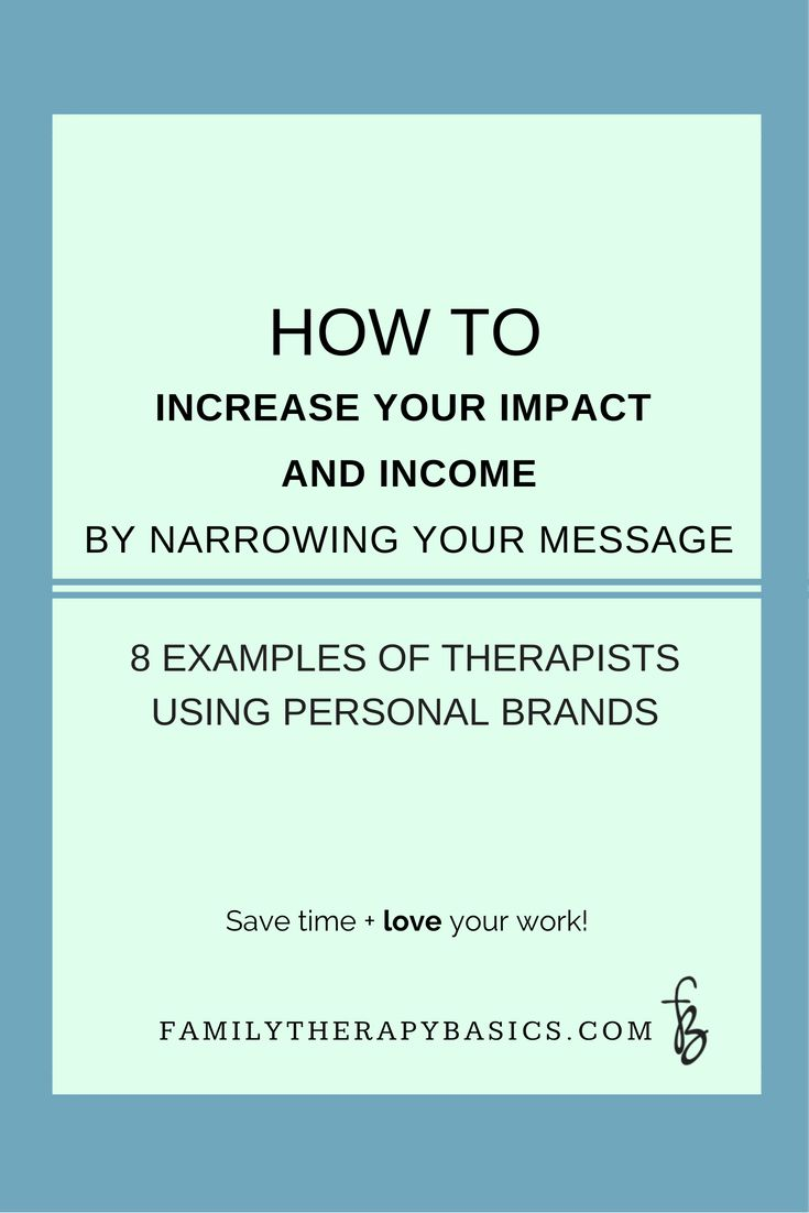 Want to increase not only your income but also your impact as a therapist?  Learn from what these therapists are doing, and begin to make the most of your personal brand!