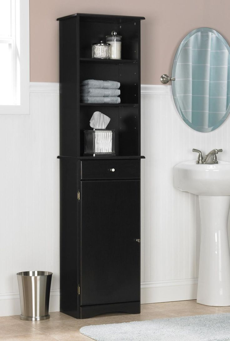 Tall bathroom storage cabinets - Bathroom Tall Bathroom With Sink And Mirror Cabinets Also Have Space For Trash Tall Bathroom Cabinets