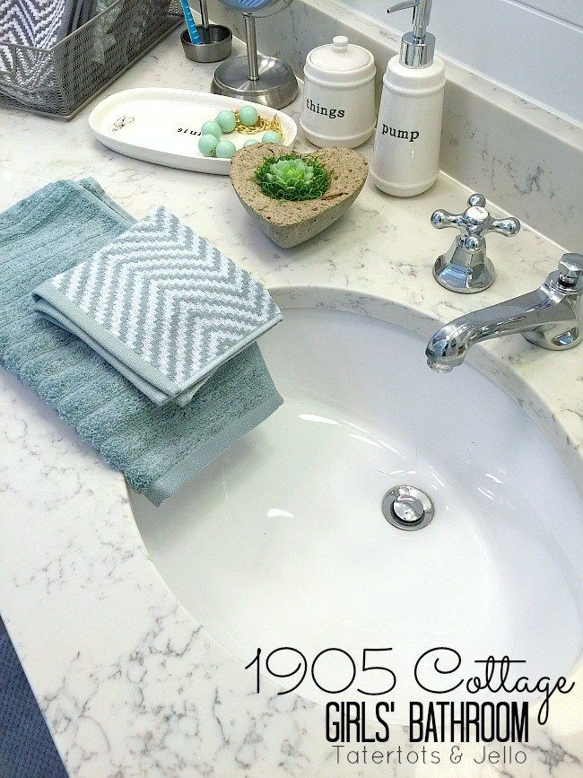 1905 cottage shared bathroom ideas. Darling ideas for a double sink, double mirror bathroom. It is great to remodel, update and redecorating your bathroom.