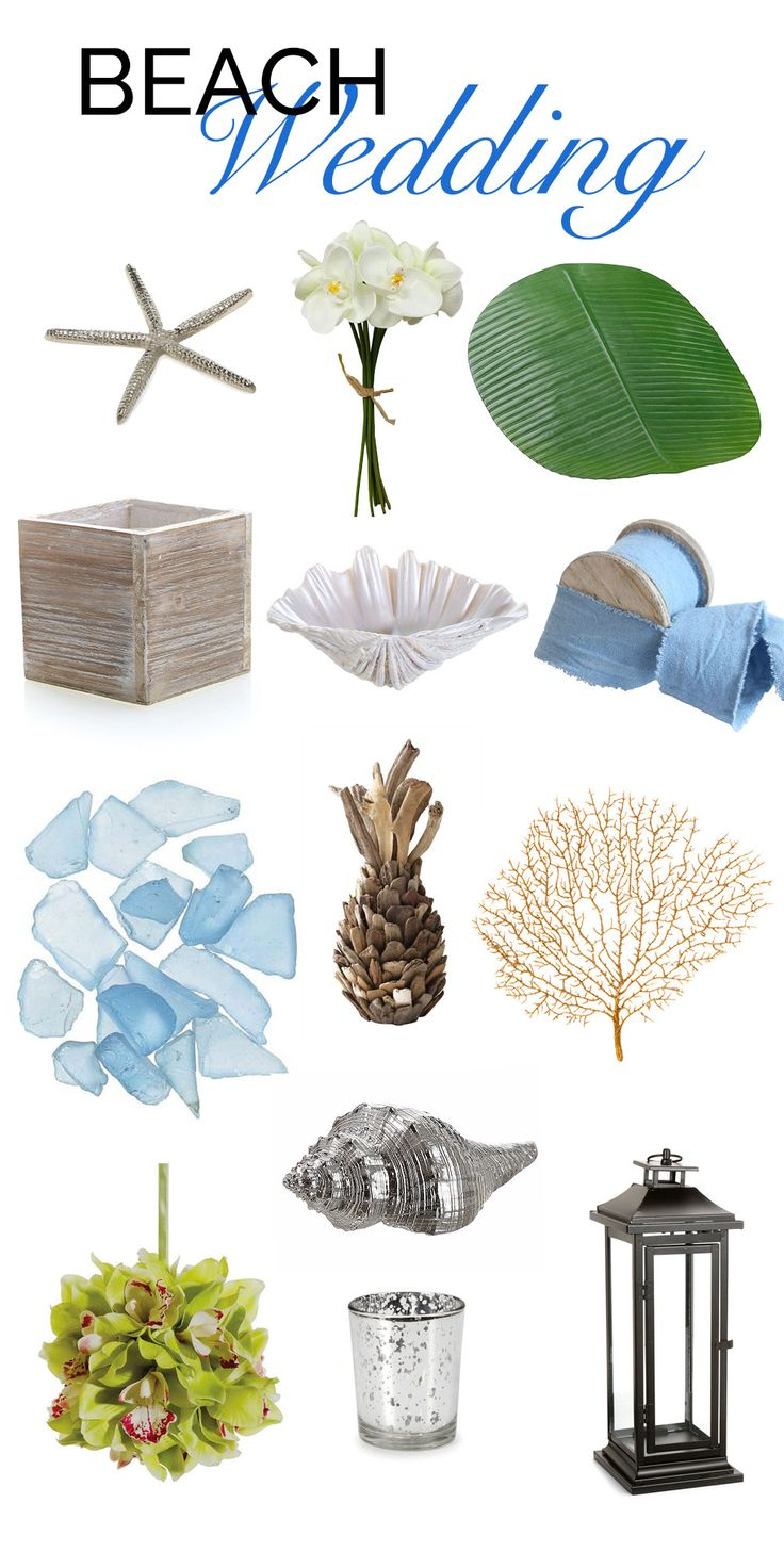 Find everything you might need for your beach wedding at afloral.com! So many choices for your beach wedding theme. #beachwedding