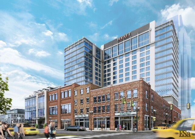 """Hyatt will build at corner of 2nd Ave & Broadway as you enter """"The District""""."""