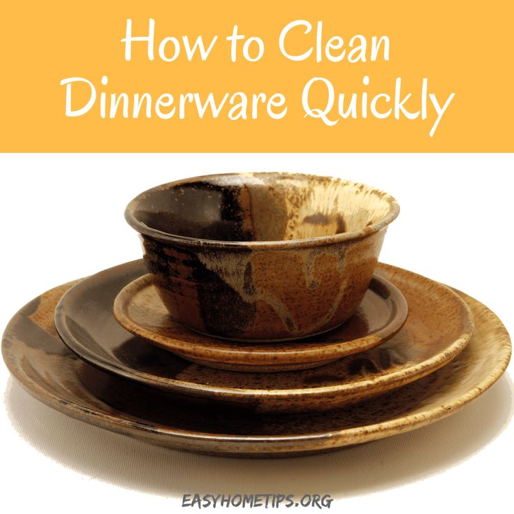 How to Clean Dinnerware Quickly #dinnerwaresets