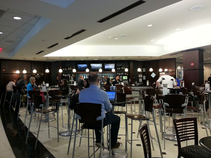 United Lounge in Terminal E, Houston Intercontinental Airport   www.traveladept.com