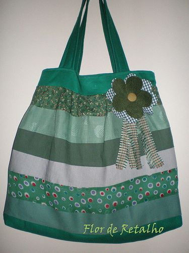 Bolsa de Retalhos: Mix Verde: Flor De, Bag Of, Photo, Patchwork