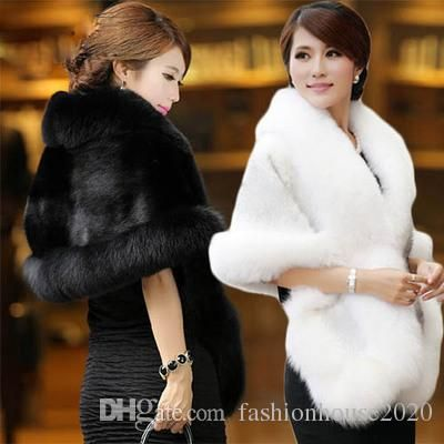 Woman images wearing a faux fur wrap with a cheongsam dress
