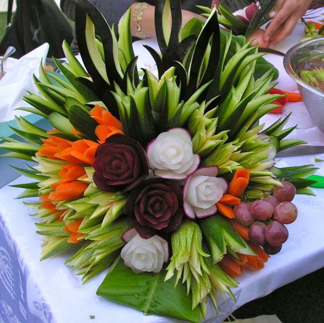 Vegetables Bouquet For Crudites Food Pinterest
