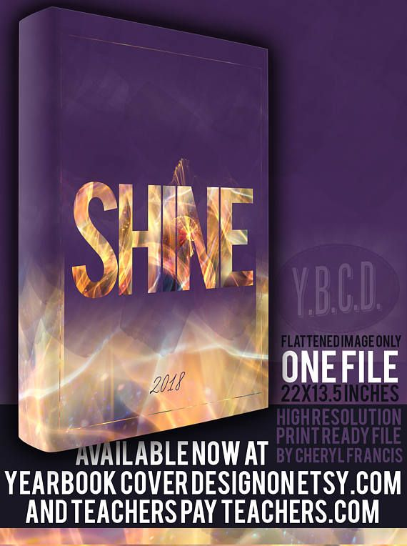 Yearbook Cover Design Shine 2018 Yearbook Covers Design