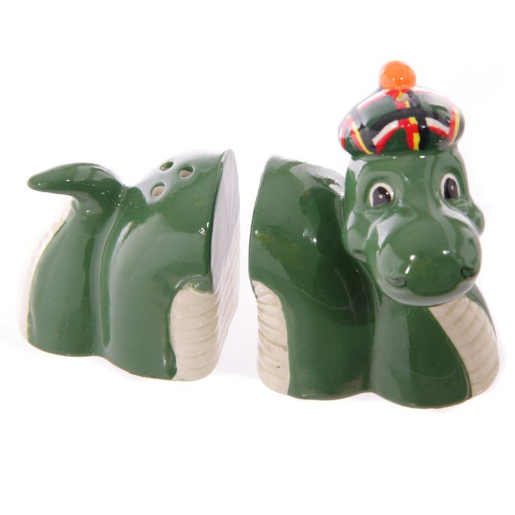 Novelty Nessie Loch Ness Ceramic Scotland Salt And Pepper