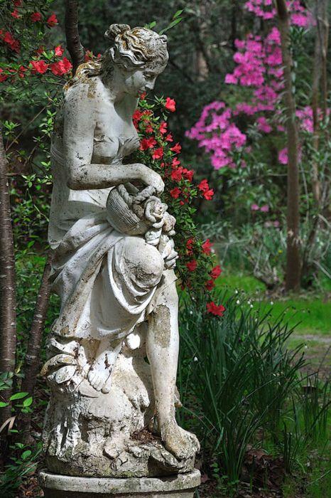 Statue at Magnolia Plantation  West Ashley, SC: Gardens Statuari, Magnolias Gardens Sc, Gardens Decor, Charleston Sc, Gardenstatu, Plantationwest Ashley, Magnolias Plantationwest, Gardens Ornaments, Gardens Statues