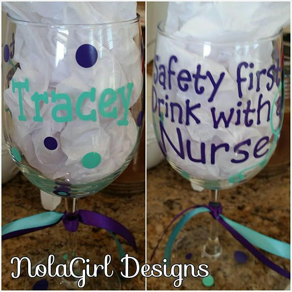 Nurse wine glass Nurses Wine glass gift Safety First #nurse #gift #wine #winelover #etsy