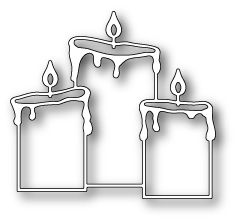 "Pillar Candle Trio - $10.99 Beautiful trio of pillar candles. Size  2.8"" x 2.6""."