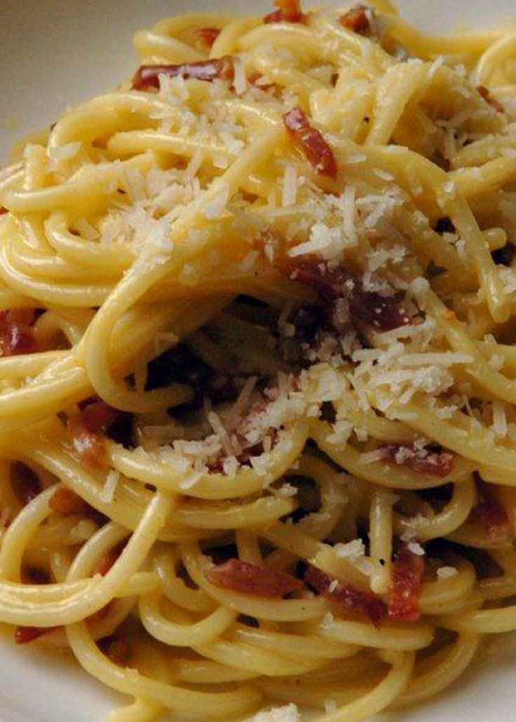From acclaimed chef Bryan Webb, this simple, yet oh-so-luxurious, spaghetti (or indeed penne) alla carbonara is welcomed by almost everyone and makes a reassuring starter for any dinner party.