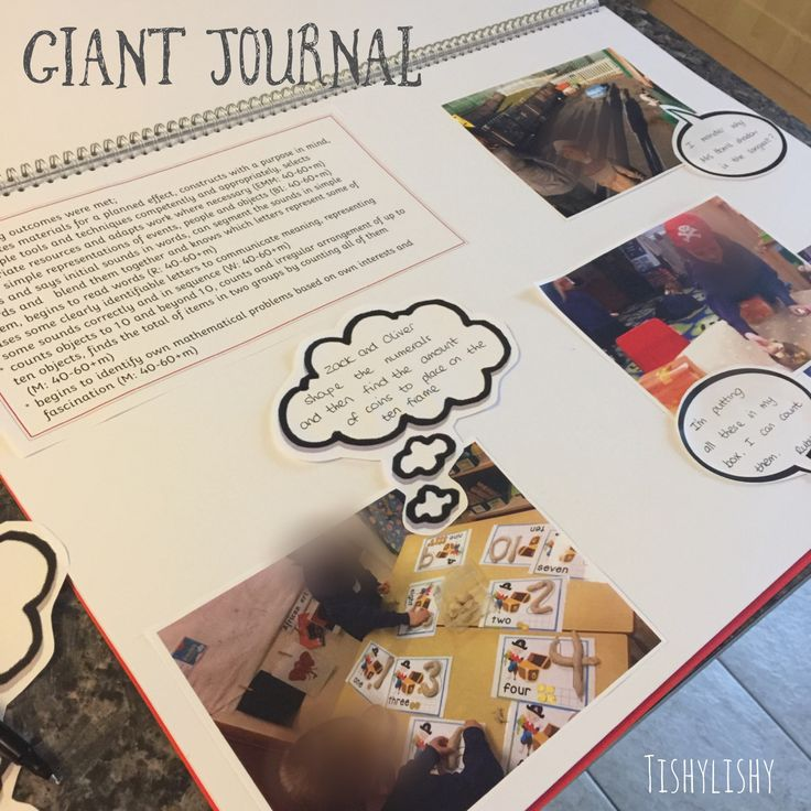 Class journal. A big floor book documenting weekly learning in my eyfs class.