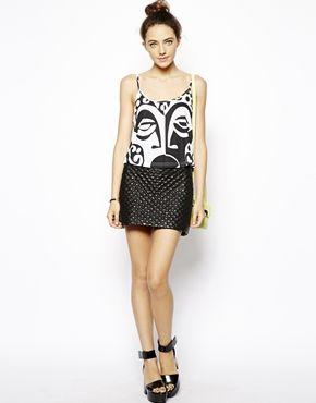 ASOS-Top estilo camisola con cara tribal