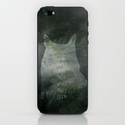 The owls are not what they seem iPhone & iPod Skin by OurbrokenHouse - $15.00