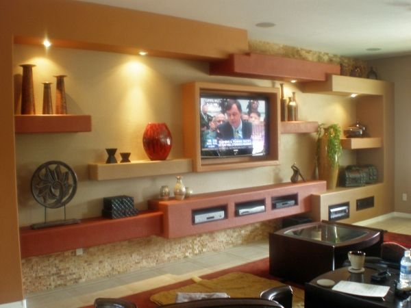 Wall Mounted Entertainment Center