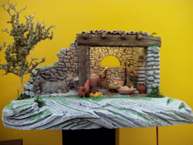 Pesebre Casa en Ruina (basado en trab de Galtxa), con fig de 8 cm.