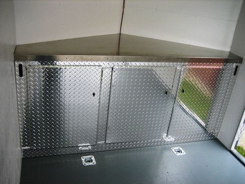 enclosed trailer upper cabinets - Google Search