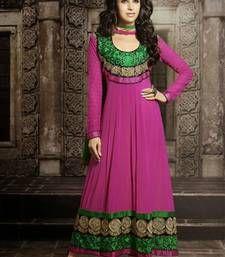 Buy Karishma Kapoor Embroidered Pink Anarkali Suit anarkali-salwar-kameez online