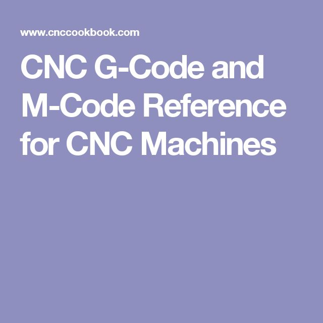 CNC G-Code and M-Code Reference for CNC Machines