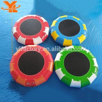 Jumping Water Trampoline, Customized Inflatable Floating Water Trampoline, Water Ski Tubes